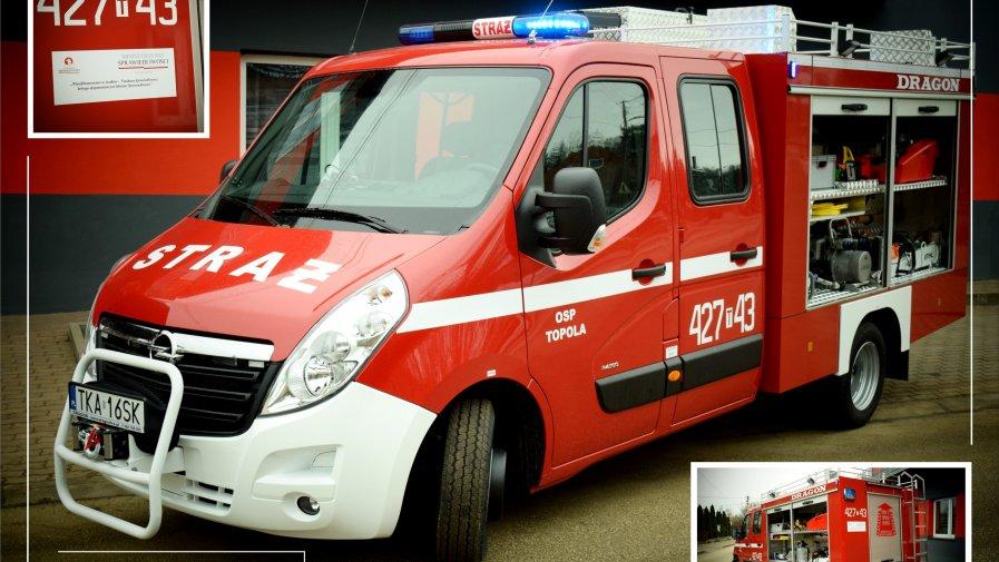 Nowy samochód dla OSP Topola